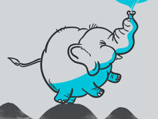The Blue Elephant T-Shirt Design by