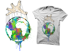 The whole world in his hand T-Shirt Design by
