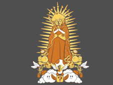 Holy Peach Day of the Dead Tribute T-Shirt Design by