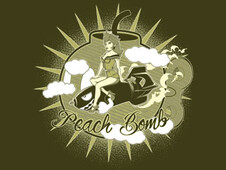 Peach Bomb T-Shirt Design by