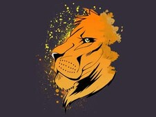 Lion art T-Shirt Design by