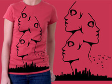 Mind city T-Shirt Design by