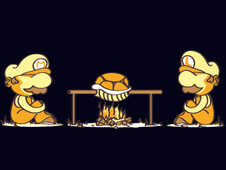 burn koopa, burn ! T-Shirt Design by