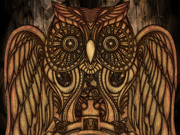 Steampunk Owl Clock by atatos