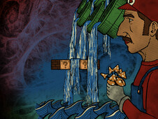 Mario's Magic Mushroom Trip T-Shirt Design by