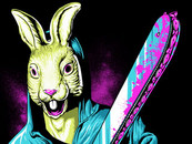 Tyronics wearing Rabbit With A Chainsaw by SLHdesign