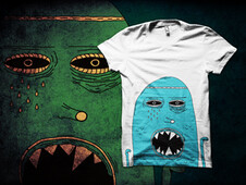 Big Blue Monster T-Shirt Design by