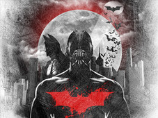 I Bathe In The Blood of The Bat T-Shirt Design by