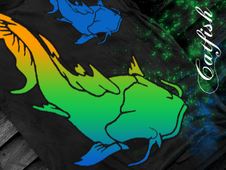 Colorful Handfishin! T-Shirt Design by