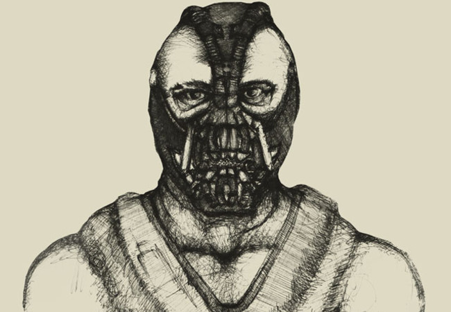 Hand drawn Bane, two colors.