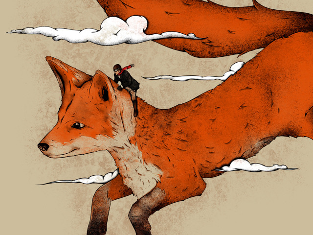 Riding the great red fox