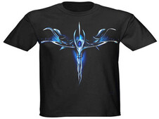 dragon heart blue design T-Shirt Design by
