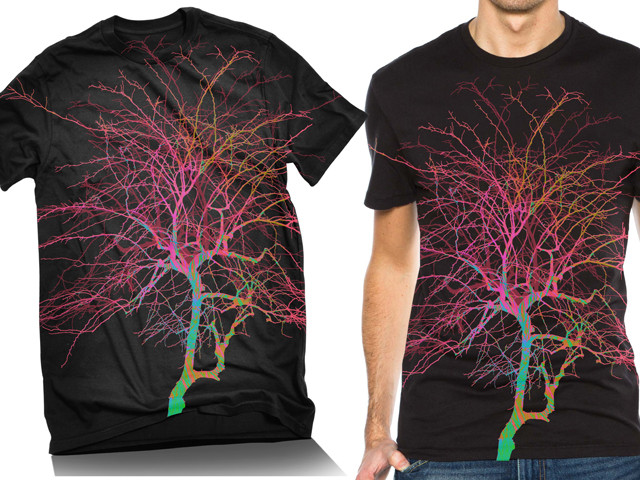 Psychedelic Colored Tree