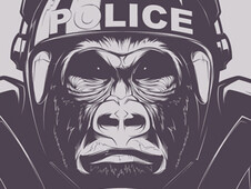 Monkey Warfare T-Shirt Design by