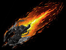 Burning Scythe T-Shirt Design by