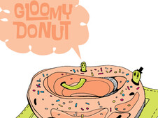 Gloomy donut T-Shirt Design by