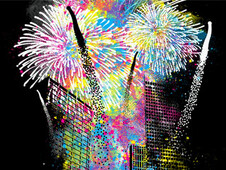 Fireworks T-Shirt Design by