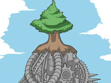 Robotree of The Future T-Shirt Design by
