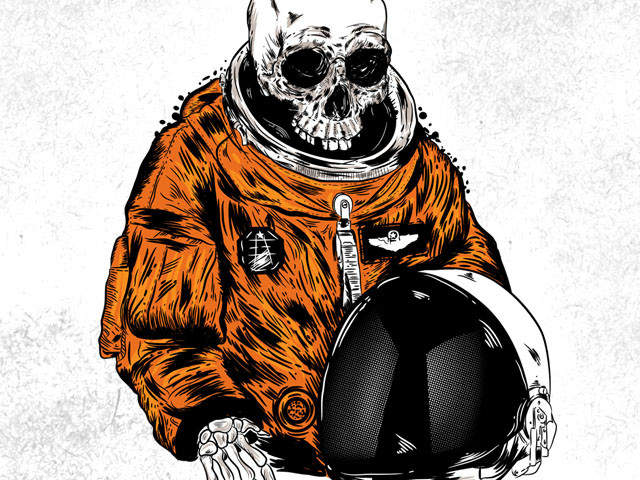 outerspace skeleton