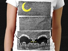 Black Cats, Black Nights T-Shirt Design by
