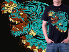 ZOMBIE TIGER T-Shirt Design by