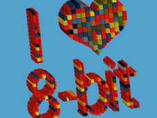 i heart 8 - bit T-Shirt Design by