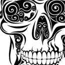 Swirly Skull by VectorInk