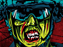 Zombie Infantry T-Shirt Design by