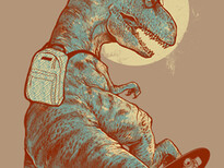I Was A Teenage T.Rex T-Shirt Design by