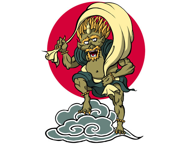 Fujin - Japanese Wind God