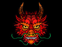 Dragon Face T-Shirt Design by