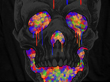 Skull Love Art T-Shirt Design by