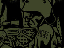 -Anti-Zombie Infantryman- T-Shirt Design by