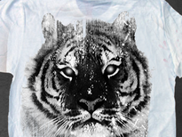 White Tiger - 1 Color T-Shirt Design by