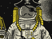 Astronaut Pirate T-Shirt Design by