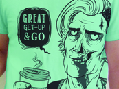 Coffee Chuggin' Zombie by CreatureOfNight