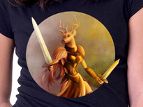 Lunatic Deer T-Shirt Design by