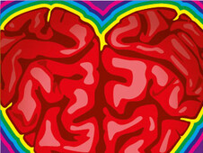 Brain, Heart and Colours T-Shirt Design by