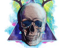 Funky skull T-Shirt Design by
