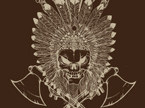 Skull Indian T-Shirt Design by