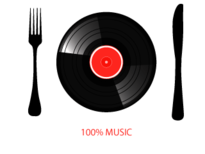 100% MUSIC T-Shirt Design by