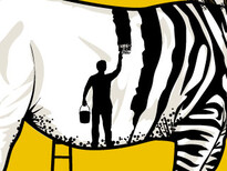 Zebra Painter T-Shirt Design by