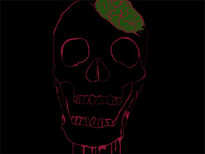 Bubblegum Skull T-Shirt Design by