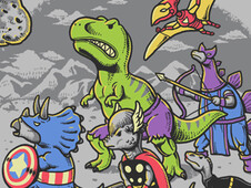 Dinosaur Avengers T-Shirt Design by