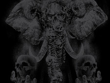grim elephant T-Shirt Design by