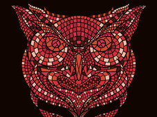 Owl Mosaic T-Shirt Design by
