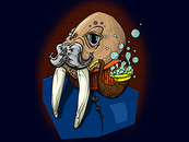 cheeky walrus by charles@mannacreations.com