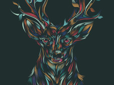WILD DEER T-Shirt Design by