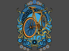 Bike Nouveau T-Shirt Design by