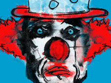 sad clown T-Shirt Design by